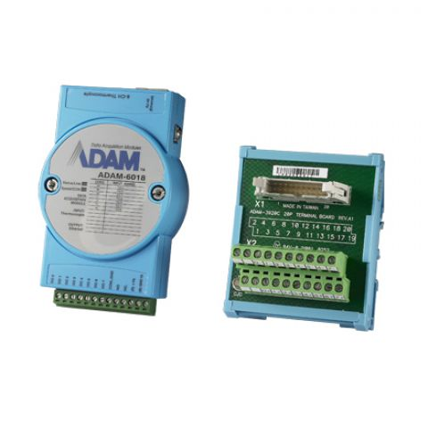 Advantech ADAM-6018 8-ch Isolated Thermocouple Input Modbus TCP Module 8-Ch DO